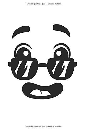 Carnet d'émoticônes à visage humain: Carnet Emoji A5 carnet à dessin pointillé carnet de notes calendrier pour enfants agenda pointillé carnet de ... pour filles carnet avec grille pointillée.