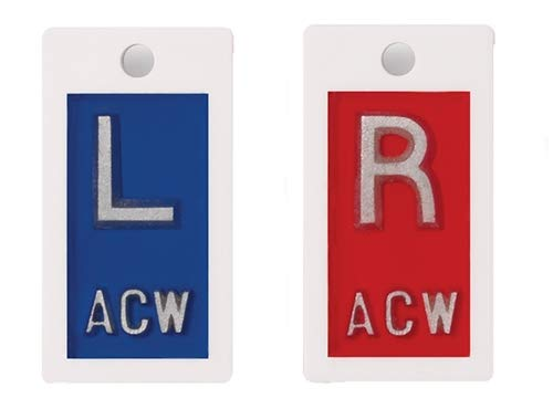 Plastic X-Ray Markers - White, Left & Right Set,