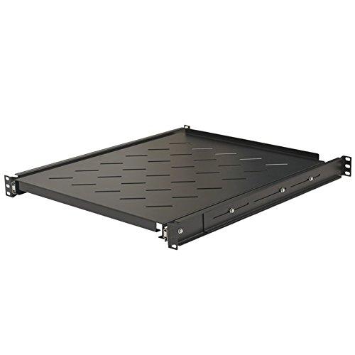 NavePoint Sliding Rack Vented Server Shelf 1U 19 Inch 4 Post Rack Mount 21.65 Inches (550mm) Deep