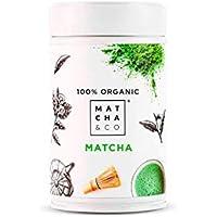 Matcha 100% Ecológico | Té verde en polvo Orgánico de Japón | Té Matcha de grado ceremonial BIO | Matcha & CO (80 g)