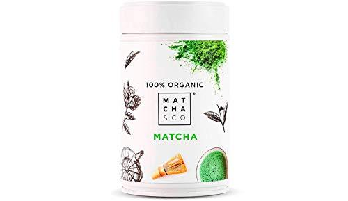 Matcha Tee Pulver 100% Bio | Zeremonie Qualität aus Japan | Japanischer Matcha ideal zum Trinken | Grüntee-Pulver für Smoothies, Latte, Matcha-Getränk | Hergestellt in Uji, Japan. (80 g DE)