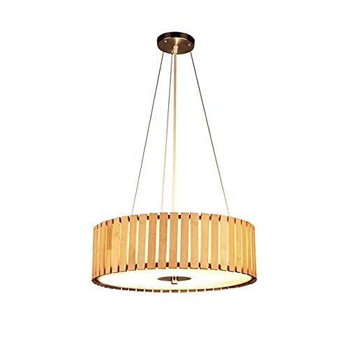 TTKDD Lámpara colgante de linterna de bambú natural, lámpara colgante de bambú de mano estilo retro japonés E27, lámpara de techo con pantalla de mimbre, luz colgante, para tatami, salón, comedor, cas