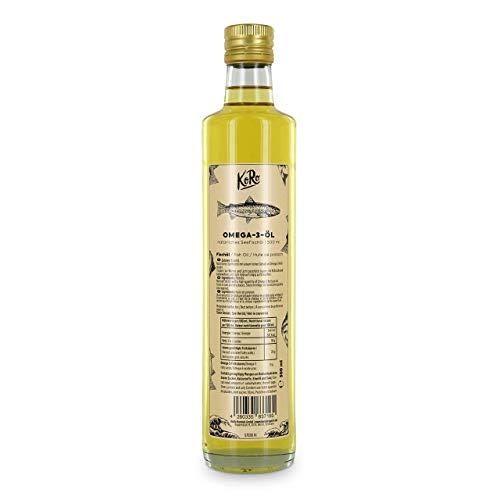 KoRo - Omega 3 Fischöl 500 ml - hochwertiges Nahrungsergänzungsmittel in praktischer Glasflasche
