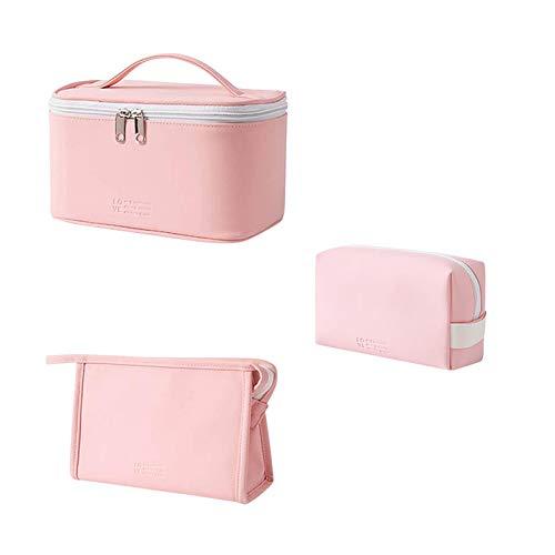 Demarkt 3 unidades de neceser portátil de viaje para maquillaje, impermeable, organizador de maquillaje, bolsa de aseo