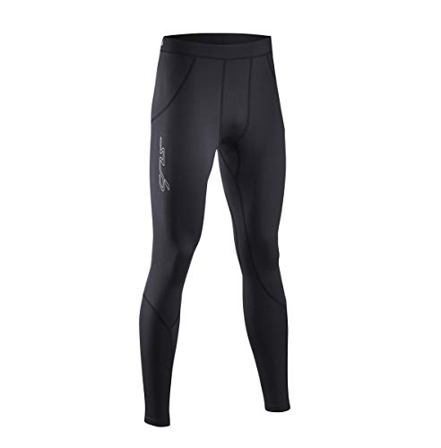 Sub Sports Fitted Cold Thermal Mens Running Tights - Black-S