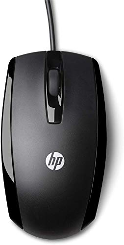 HP X500 Black Wired USB Mouse