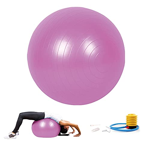 Sodeno 75cm Yoga Exercise Ball for Pilates, Yoga, Core Training and Physical Therapy, Balance Stability (Pink) by Sodeno