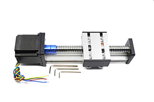 Befenybay 200mm Length Travel Linear Stage Actuator with Square Linear Rails Ballscrew SFU1605 with NEMA17 Stepper Motor for DIY CNC Router Parts X Y Z Axis