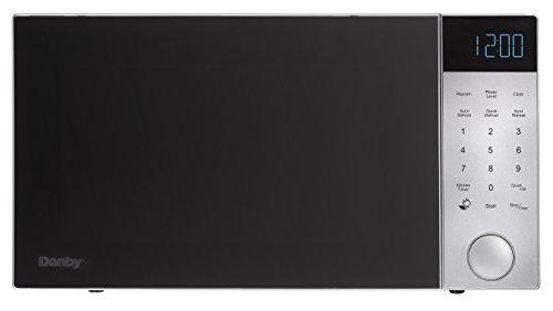 Danby DMW11A4SDB Nouveau Wave 1.1 Cu. Ft. 1000W Countertop Microwave Oven, Silver