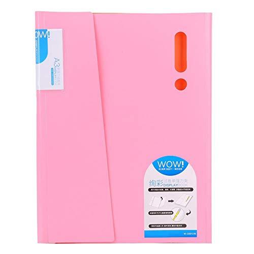 Carpeta de archivos Organizador de archivos Carpeta de archivos de colores Cómoda de llevar Fácil de transportar 100 hojas para la oficina(W-C0012 powder)