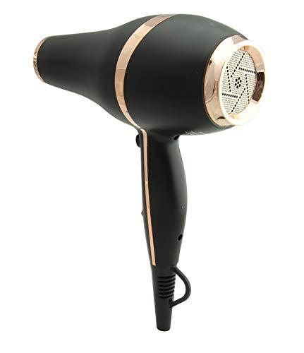Secador de cabello LIM HAIR LX NEGRO. Diseño LUXURY, NanoSILVER, 2200 W, PROFESIONAL, vida Extra larga y peso reducido ligero. 2 boquillas y difusor. Equilibrio entre potencia, vida y peso