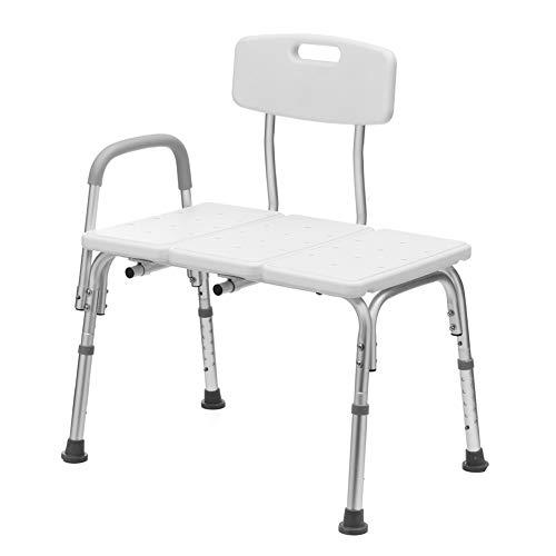 Duschstuhl Badewanne Sitzbank Hocker Höhenverstellbarer Badeliftstuhl Mit Abnehmbarem Rücken Und Arm Für Ältere Schwangere Schwangere