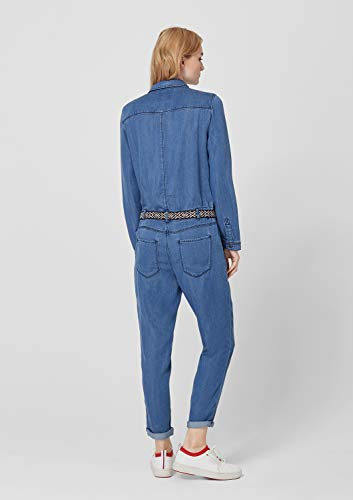 s.Oliver RED Label Damen Denim-Overall, blau jeans-look - 6