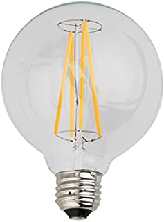 Kodak 67013-UL Globe G95 Dimmable LED Multi-Filament Light Bulb, 60-watt, E26 Base