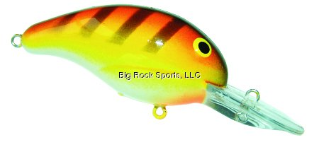 Bandit 207SC 200 Series 1/4-Ounce Crank Bait Fishing Lure, Yellow, Orange and Mint Finish