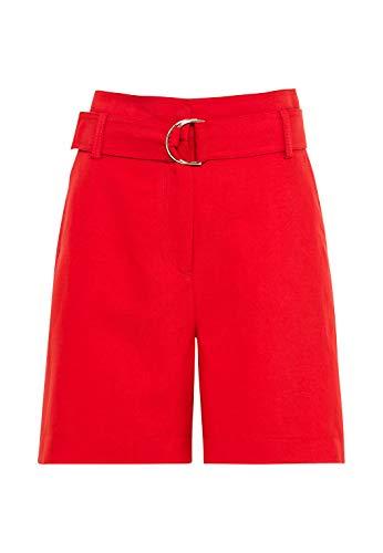 HALLHUBER Taillenshorts mit Leinen & Tencel™ weit geschnitten rot, 34