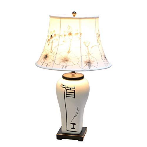 Z-D tafellamp voor woonkamer, slaapkamer, bedlampje, retro-licht, bureaulamp, rolgordijnen van stof, Chinese stijl, keramiek, decoratie