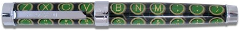 ACME Studios Standard Rollerball Pen Qwerty, Green Black (PDM01R) by ACME-Pens (English Manual)
