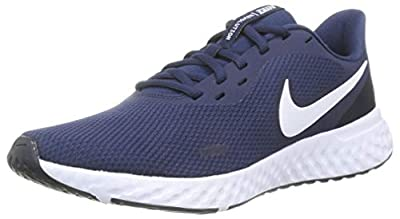 Nike Revolution 5, Men's Running Shoes, Midnight Navy/White-Dark Obsid, 7.5 UK (42 EU)