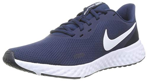 Nike Revolution 5, Zapatillas de Atletismo para Hombre, Azul (Midnight Navy White Dark Obsidian), 40 EU