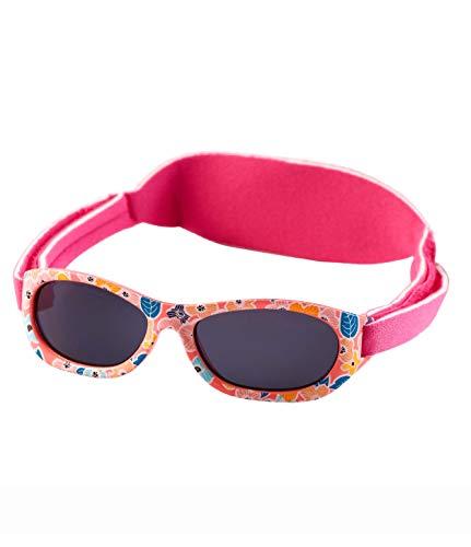 Kiddus Baby-sonnenbrille für JUNGEN UND MÄDCHEN im Alter von 0 Monaten bis 2 Jahren, 100% UV-Schutz, SUPER KOMFORTABEL mit verstellbarem WEICHEN Riemen. Das ideale babys Geschenk (24 Blätter rosa)
