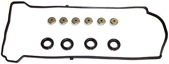 DNJ Valve Cover Gasket With Grommets VC216G For 02-12 Acura, Honda/RDX, Civic, Element, CR-V, TSX, Accord, RSX 2.0L-2.4L L4 DOHC Turbocharged, Naturally Aspirated K23A1,K20Z3,K24A8,K24Z1,K24A2,K20Z1