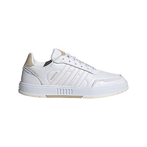adidas COURTMASTER, Zapatillas de Tenis Hombre, FTWBLA/FTWBLA/Sabana, 45 1/3 EU