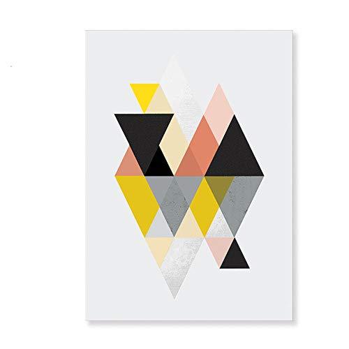 LiMengQi2 Lienzo geométrico Abstracto escandinavo Pintura nórdica Cartel de Interior e impresión de imágenes artísticas de Pared para la decoración del hogar de la Sala de Estar (No Frame)