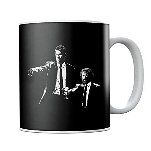 Juego de Tronos Lannister Banksy Pulp Fiction - Taza de café de cerámica para regalo de cumpleaños