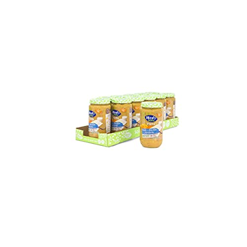 Hero Baby Trocitos Tarritos de Pasta, Bacalao y Verdura - Pack de 12x235gr