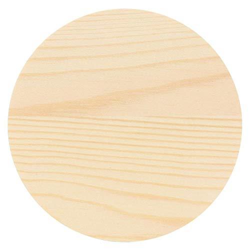 Oumefar Pine Round Prop Stand Massivholz Display Requisiten Palettenständer für Ring Schmuck Jade Anhänger Display Werkzeuge(Small Round-Kiefer)