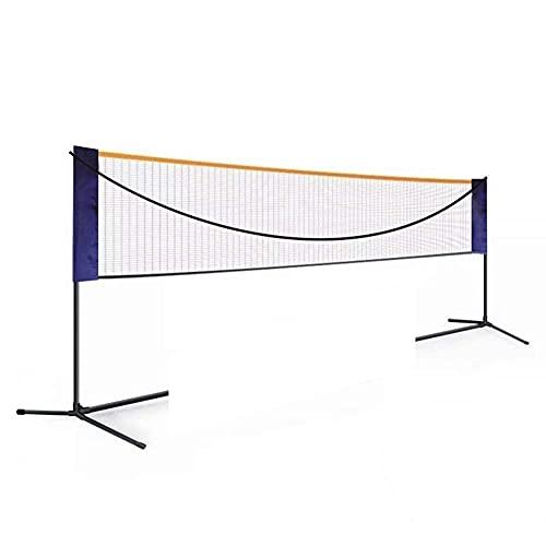 MU Conjunto de Red de Bádminton Portátil, Fotograma de Red de Bádminton Plegable Simple Y Al Aire Libre de Voleibol de Voleibol de Tenis de Altura Y Ancho de Ajuste de Ajuste
