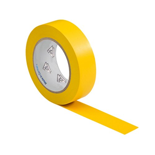 AUPROTEC 1 Rolle VDE Isolierband Isoband Elektriker Klebeband PVC 15mm x 10m DIN EN 60454-3-1 Farbe: gelb