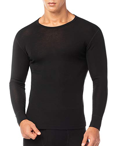 LAPASA Camiseta Térmica para Hombre de Lana Merino M31 (M (Detalle en Descripción), Negro (Camiseta))