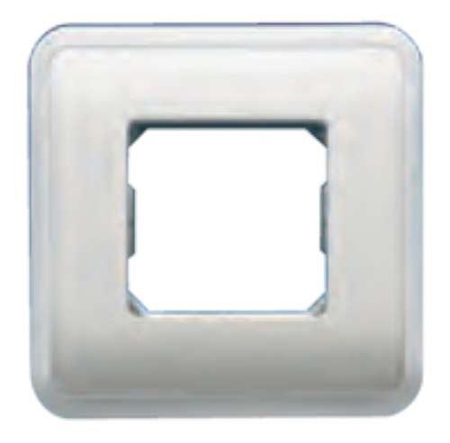 Bjc rehabitat - Placa con bastidor+marco 1 ancha/2 estrecho blanco