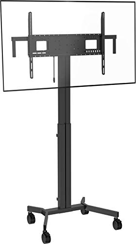Vision VFM-F30/W Flacher Panel-Bodenständer 2,29 m (90 Zoll) tragbarer Flachbildschirm-Bodenständer schwarz