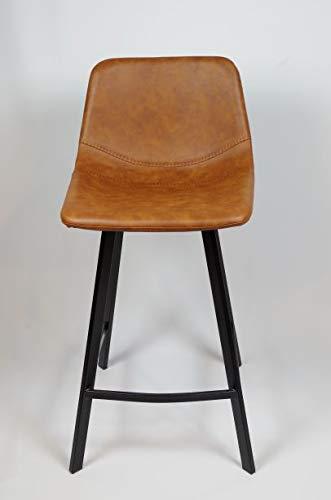 seat-in Tabouret Snack Milo 65 Marron Cognac Vieilli …