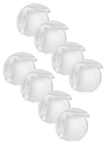 com-four® 8X Eckenschutz, Kantenschutz für Tisch, Stuhl, Regal - Kindersicherung Stoßschutz aus Silikon, Schutz für Babys und Kleinkinder, transparent - selbstklebend (08 Stück)