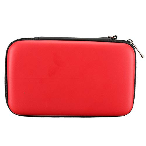 subtel® Funda Compatible con Nintendo 3DS / 3DS XL/New 2DS XL/New 3DS XL Plastic Funda Flip Cover Case Rojo