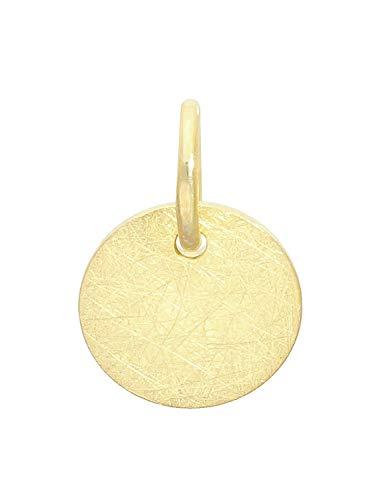 MyGold dames hanger (zonder ketting) geel goud 375 goud (9 karaat) massief mat Ø 8 mm mini klein rond gouden hanger kettinghanger geschenken voor vrouwen meisjes Trend Blogger Justina A-00943-G604
