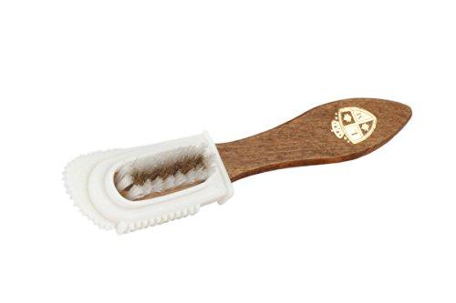 Langer & Messmer cepillo lavable para zapatos con cabezal de goma - el cepillo de gamuza para piel de ante (velours)
