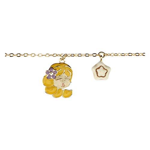 THUN - Bracciale da Donna con Segno Zodiacale Vergine - Oroscopo - Gioielli Donna - Ottone Placcato Oro e Ceramica
