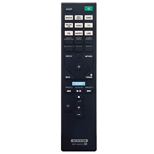 RMT-AA231U Replacement Remote Control Applicable for Sony 7.2ch Home Theater AV Receiver STR-DH770 STRDH770