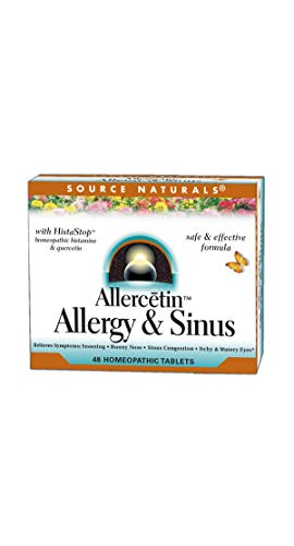 Source Naturals Allercetin Allergy & Sinus Homeopathic, 48 Tablets Per Pack