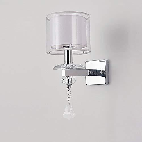 Lighfd Glazen wandlamp, Round E14 Lamp van de muur Moderne stijl metalen beugel Light Simple wandlamp, geschikt for hal, woonkamer, balkon, slaapkamer