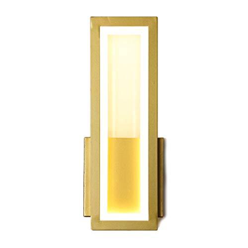 Aplique De Pared Sala De Estar Lámparas De Noche Lámpara De Pared De Hotel Nórdico Luz LED Luz Cálida Blanco Cálido Pasillo Luz Del Porche Interruptor De Encendido Accesorios De Botón,32*12*5CM-B Variable light