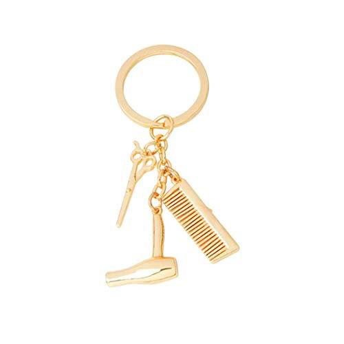 Kreative Schlüsselanhänger 3 In 1 Barber Fön Schere Kamm Charm Anhänger Schlüsselanhänger Salon Friseur