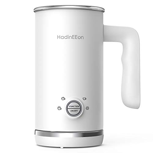 HadinEEon Milk Frother, Electric Milk Frother and Steamer, 4 in 1 Large Capacity Automatic Cold Hot Milk Frother & Warmer (5.1 oz/10.1 oz), Coffee...