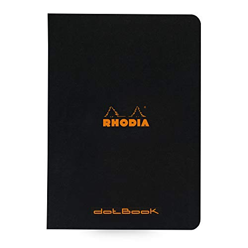 Rhodia Staplebound Notebook, A5, Dot - Negro