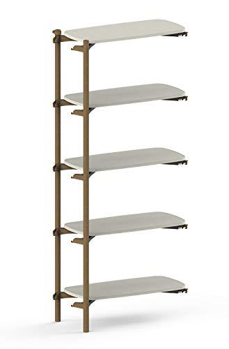 KETER FOM by Keter 5 Tier ADD ON Modern Bookshelf for Modular Shelving...
